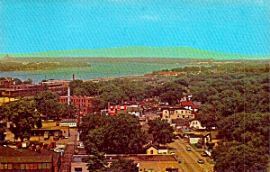 Moline Il Looking East From Atop Le Clair Hotel P38673
