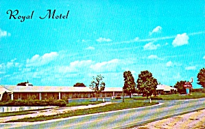 Geneseo Il The Royal Motel Postcard P38708