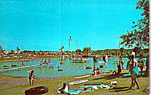 Davenport Iowa Lakeside Manor Park Postcard P38715