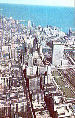 Chicago Il Aerial Of The Loop P38719