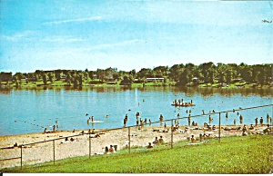 Lake Mcbride Iowa Swimming Beach Postcardp38724