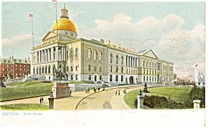 Boston, Ma State House Tuck S Postcard P5533