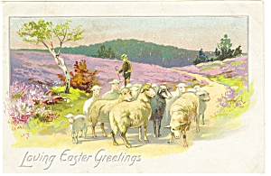 Loving Easter Greetings Postcard P7568 Rapheal Tuck