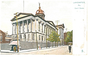 Lancaster, Pa, Court House Tucks Postcard P9871