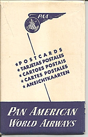 Pan American World Airways Postcards Sf0709