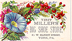 Miller's Big Shoe Store Trade Card