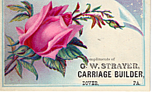 G W Strayer Carriage Builder Trade Card