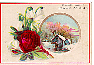 Isaac Wolf Colthier Trade Card