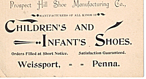 Prospect Hill Shoe Manufacturing Co Trade Card