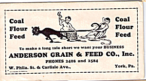 Anderson Grain And Feed Co.inc Blotter Tc0187
