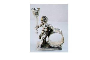 Budvase Napkin Ring With Large Cherub
