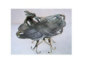 Victorian Silverplate Calling Card Holder
