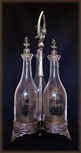 Rare Victorian Silverplate Liquor Set