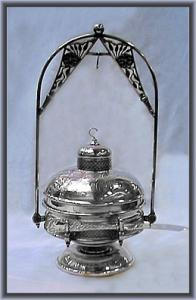Victorian Silverplate Butterdish