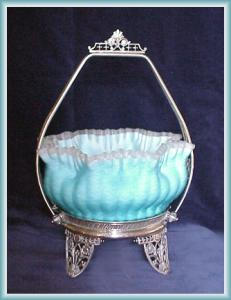 Unusual Brides Basket Blue Mother Of Pearl