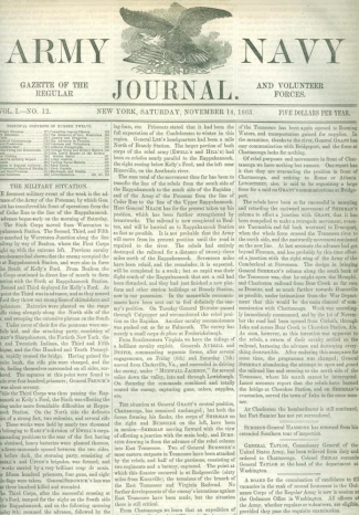 Army And Navy Journal, November 14, 1863