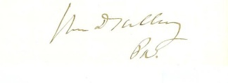 Autograph William F. Kelley