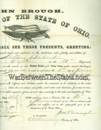 Autograph, John Brough, Governor Of Ohio