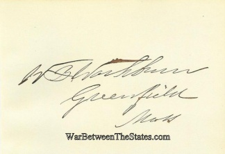 Autograph, William B. Washburn