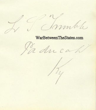 Autograph, Lawrence S. Trimble