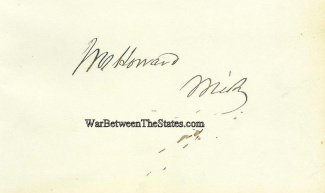 Autograph, Jacob M. Howard