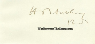 Autograph, Henry B. Anthony
