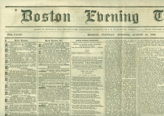 Boston Evening Transcript, August 25, 1863