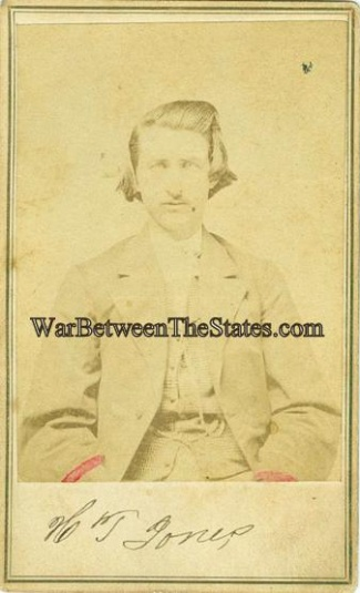 Cdv, Confederate Soldier, H.t. Jones, Photographed In Tennessee