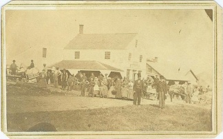 Cdv, General Rufus Ingalls Family Gathering