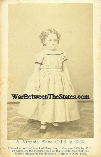 Cdv, A Virginia Slave Child In 1863