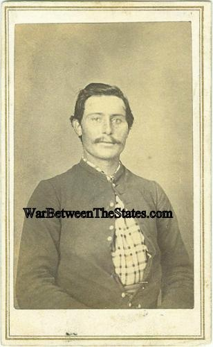 Cdv Identified Union Soldier Photographed In Indiana
