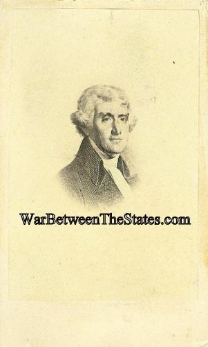Cdv President Thomas Jefferson