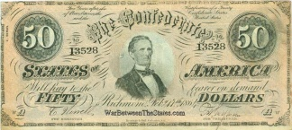 1864 Confederate $50 Note