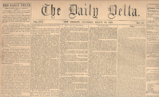 The Daily Delta, New Orleans, March 22, 1862