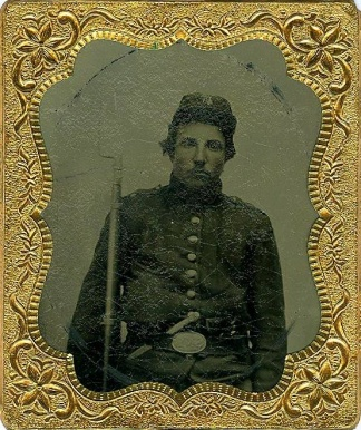 Tintype, Triple Armed New York Infantryman