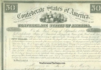 1861 Confederate $50 Bond