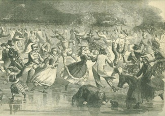 Skating Carnival In Brooklyn, N.y., February 10, 1862