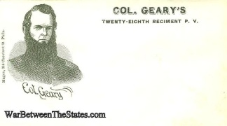 Patriotic Cover, Colonel Geary's 28th Pennsylvania Infantry