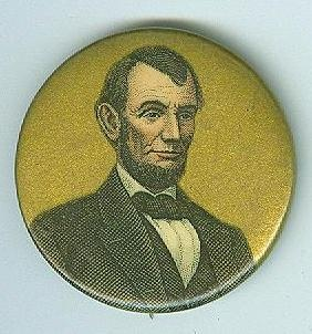 President Abraham Lincoln Celluloid Button