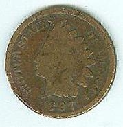1897 One Cent Piece
