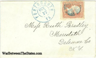 Civil War Envelope With Portsmouth, Virginia Postmark