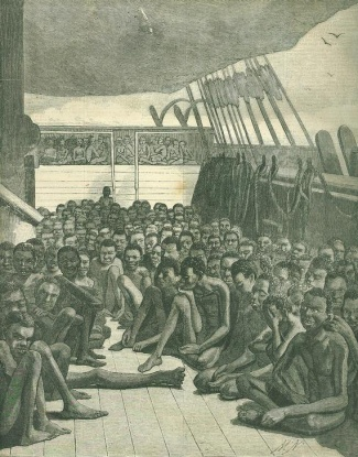 The Slave Deck Of The Bark Wildfire Brought Into Key West, Florida