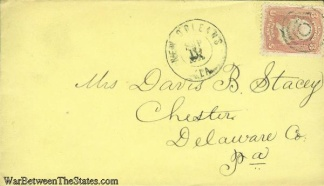 1862 Civil War Cover Postmarked At New Orleans, Louisiana