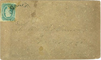 Stamped Confederate Cover Postmarked At Charlotte, N.c.