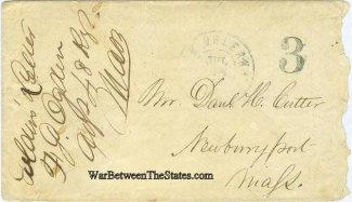 Patriotic Cover Signed By Massachusetts Officer