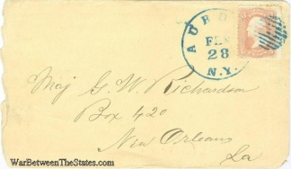 Cover Addressed To Yankee Major In New Orleans, La.