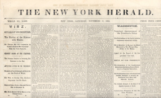 The New York Herald, November 11, 1865