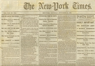 The New York Times, September 19, 1863