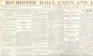 Rochester Daily Union And Advertiser, Oct. 14, 1864