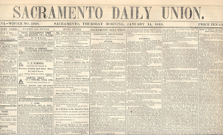 Sacramento Daily Union, January 14, 1864
